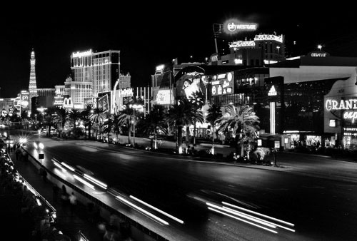 Las Vegas On the road lights